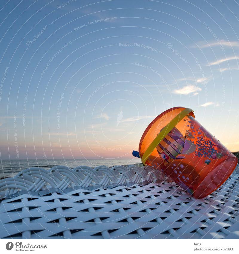 bis morgen... Himmel Ferien & Urlaub & Reisen Sommer Sonne Meer Erholung Freude Strand Umwelt Küste Spielen Horizont Freizeit & Hobby Kindheit Tourismus Insel