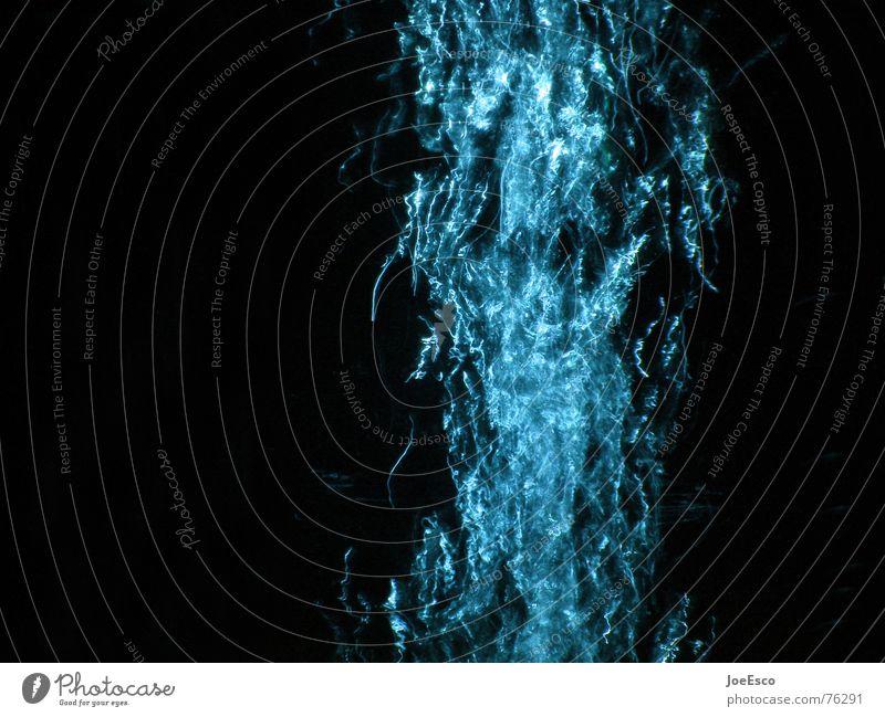 lightsplash 01 Wasser blau schwarz Stil Bewegung Stimmung Luft Feste & Feiern Beleuchtung Brand Teile u. Stücke Blase blasen Dynamik durcheinander Versuch