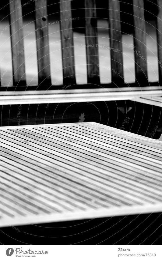 wooden lines Holz Holzmehl abstrakt Geometrie streben Muster Möbel hölzerne linien Linie Strukturen & Formen gestalterisch Schwarzweißfoto gartenmöbel