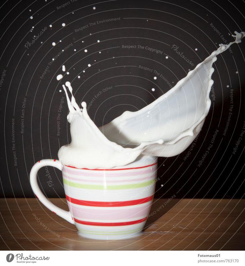 Die Milch macht´s II Tasse Flüssigkeit frisch Gesundheit lecker braun rosa rot schwarz weiß Freude Fröhlichkeit Lebensfreude Kraft Hemmungslosigkeit Bewegung