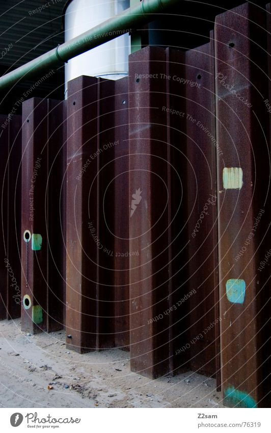vier hotspots Farbe Wärme Kreis Industriefotografie Fabrik Bodenbelag Physik Quadrat Staub abstrakt Hot Spot
