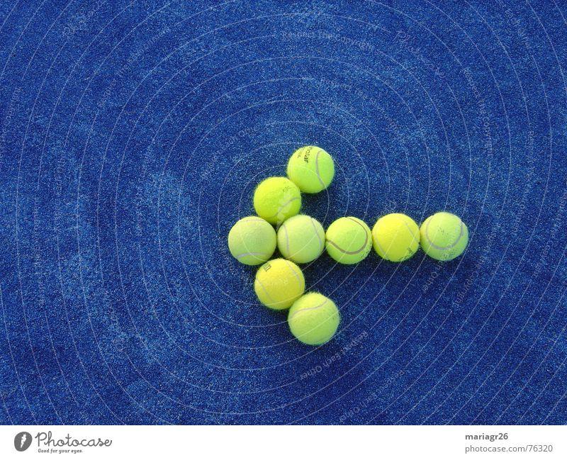 Ziel blau gelb Sport Ball Richtung Tennis
