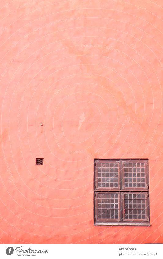 Lass' Dein Haar herunter... rot Winter Haus Fenster Holz Stein Mauer Gebäude braun Glas Burg oder Schloss Schweden Putz