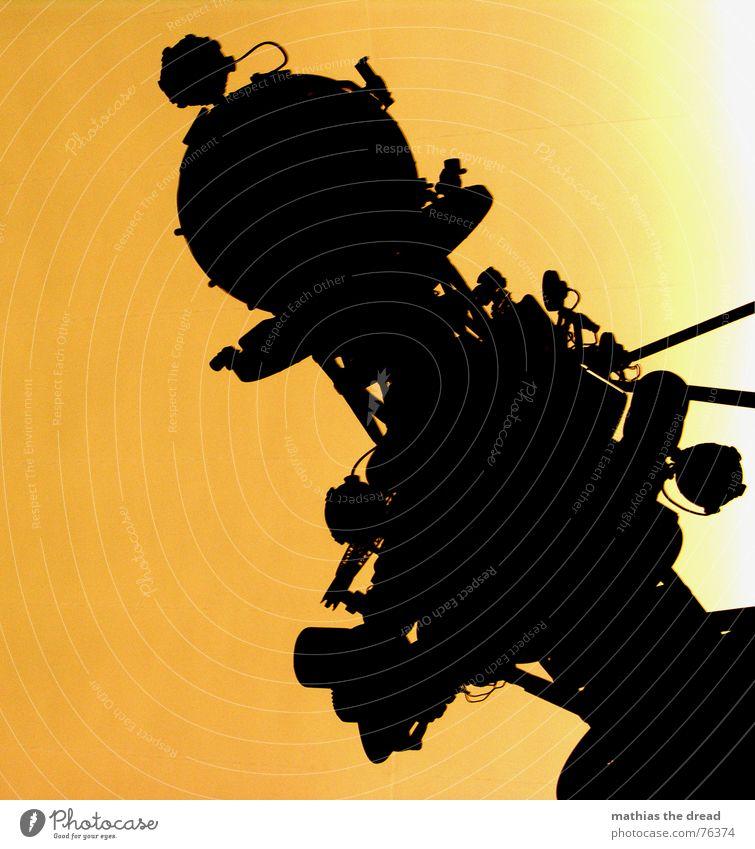 Universarium schwarz gelb orange Stern modern Technik & Technologie rund Bild Linse Projektor Observatorium