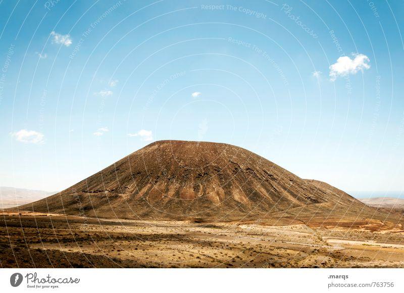 Erhebung Ferien & Urlaub & Reisen Tourismus Ausflug Sommer Natur Landschaft Wolkenloser Himmel Schönes Wetter Berge u. Gebirge Vulkan gigantisch groß heiß