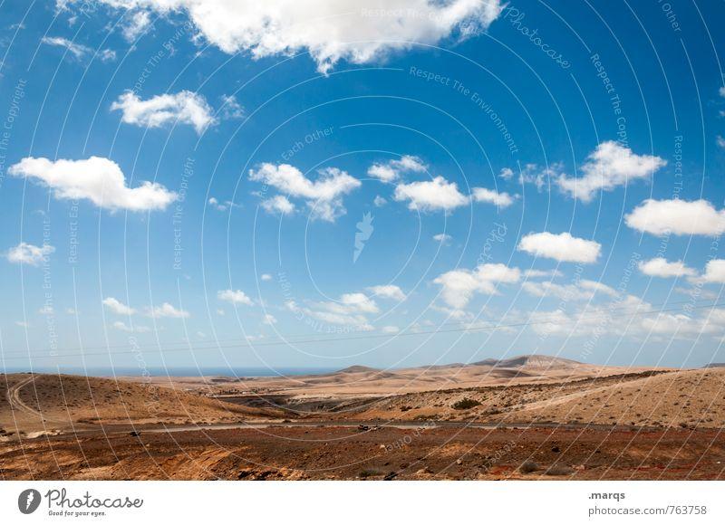Hinterland Ferien & Urlaub & Reisen Tourismus Ausflug Abenteuer Umwelt Natur Landschaft Himmel Wolken Horizont Sommer Klima Schönes Wetter Hügel heiß trocken