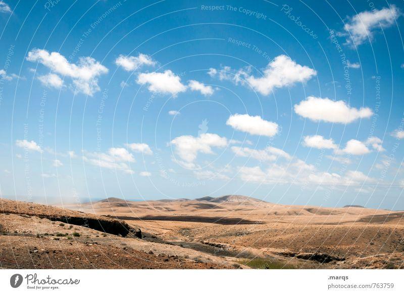 Trocken Ferien & Urlaub & Reisen Ausflug Abenteuer Ferne Freiheit Umwelt Landschaft Himmel Wolken Horizont Sommer Schönes Wetter Dürre Hügel heiß trocken