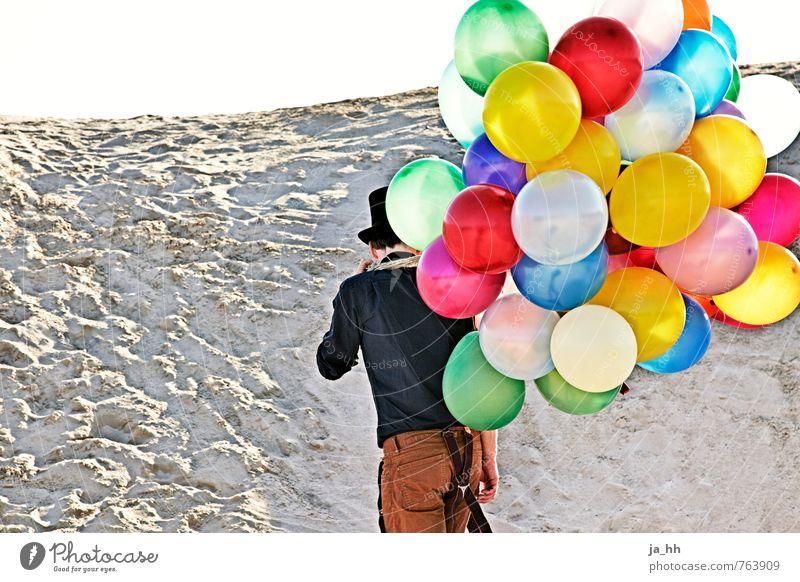 Luftballons II Kind Ferien & Urlaub & Reisen Sommer Freude Strand Spielen Freiheit Glück Feste & Feiern Party Geburtstag genießen Lebensfreude Abenteuer