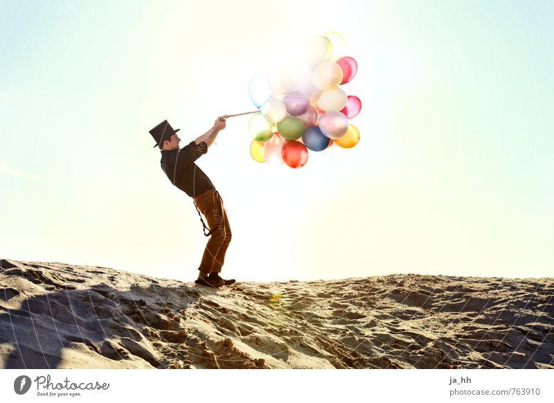 Luftballons III Freude Glück Jahrmarkt Geburtstag Fröhlichkeit Lebensfreude Strand Feste & Feiern Abenteuer Sommer Spielen Freiheit kindlich Zirkus Spielzeug