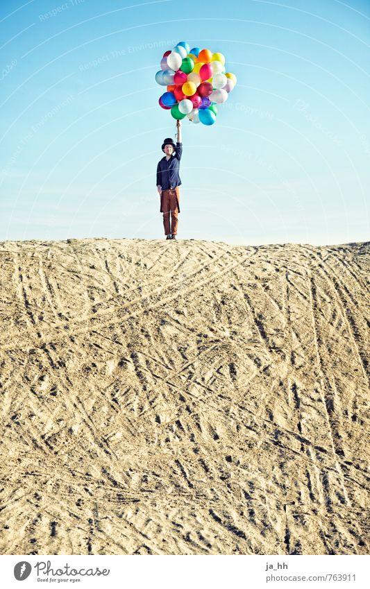 Luftballons IV Kind Ferien & Urlaub & Reisen Sommer Freude Strand Spielen Freiheit Glück Feste & Feiern Sand Party Geburtstag Fröhlichkeit genießen Lebensfreude