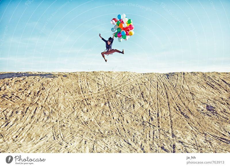 Luftballons V Freude Glück Fröhlichkeit Lebensfreude Frühlingsgefühle Euphorie Jahrmarkt Geburtstag Strand Düne Sand Feste & Feiern Abenteuer Sommer Spielen