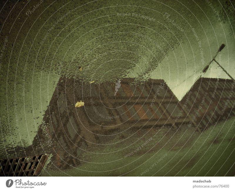BACKFLIP Pfütze wirklich Nebel nass Haus Hochhaus Gebäude Material Fenster live Block Beton Etage trist dunkel Leidenschaft Spiegel Vermieter Mieter Ghetto