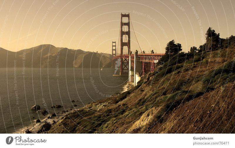 Das Tor zur Welt Golden Gate Bridge San Francisco Kalifornien ruhig Küste Brücke bridge