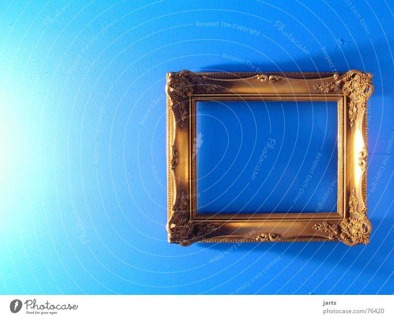 blue room alt blau Einsamkeit Wand Raum Kunst gold leer einfach Bild Häusliches Leben Bilderrahmen Kunsthandwerk