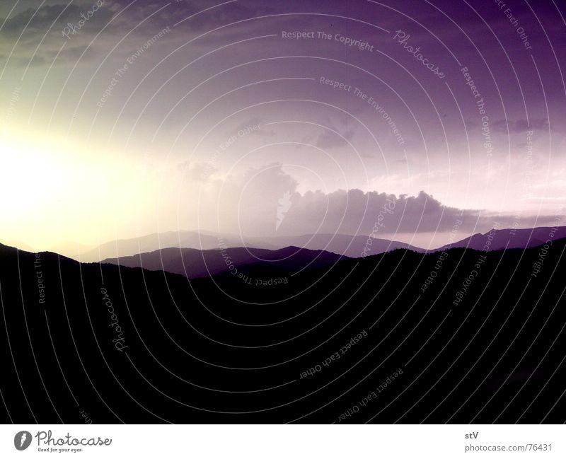 Costa Brava Landschaft Sonne Ferne Berge u. Gebirge Freiheit Hügel Charakter