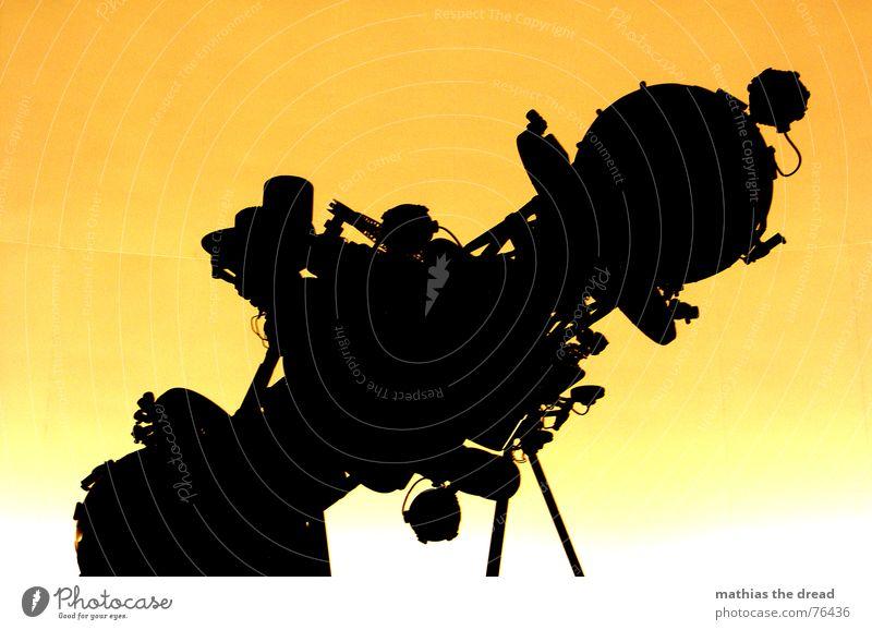 Universarium 2 schwarz gelb orange Stern modern Technik & Technologie rund Bild Linse Projektor Observatorium