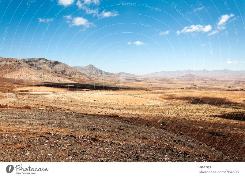 Fuerteventura Ferien & Urlaub & Reisen Tourismus Ausflug Abenteuer Ferne Freiheit Sommerurlaub Umwelt Natur Landschaft Himmel Wolken Horizont Schönes Wetter