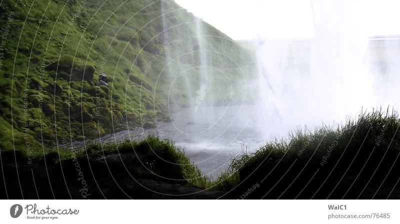 Hinter den Kulissen See Island Wiese Umweltschutz Nationalpark wandern Wasser Wasserfall spritzen Fluss gebirge natur hinten Stein Felsen Wege & Pfade