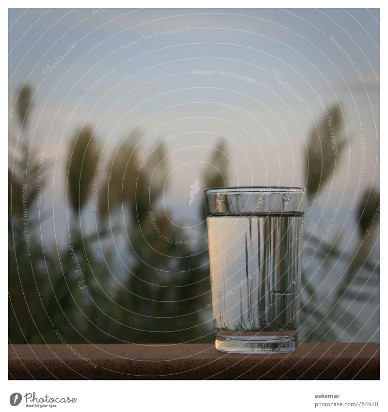 Glas Wasser Getränk Erfrischungsgetränk Trinkwasser Gesundheit Gesunde Ernährung Wellness Erholung ruhig Meer Insel Natur authentisch natürlich retro Sauberkeit