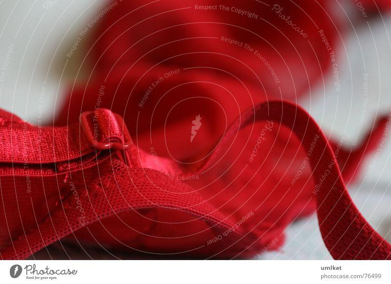 stoffgeflüster rot Spielen Stoff Kunststoff Unterwäsche Wäsche BH Träger