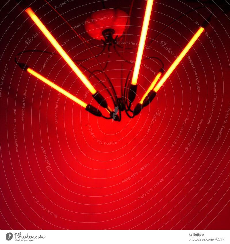 lightbox III rot Lampe hell Kunst Hinterhof Neonlicht Kronleuchter Deckenlampe Handy-Kamera