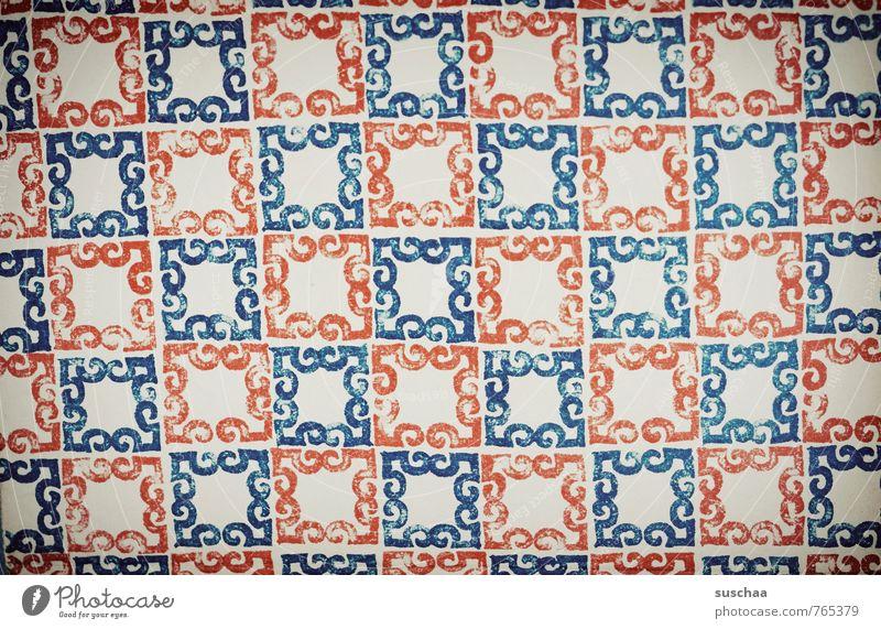 musterhaft blau rot Design kariert Verpackung Ornament verziert