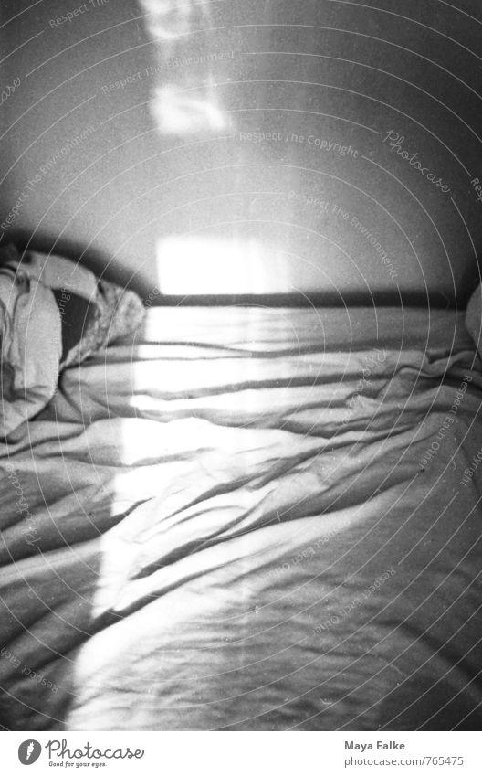 Morgenlicht Sonne Leben Stimmung Lebensfreude Hoffnung Bettwäsche Falte Geborgenheit Lichtspiel unordentlich Lichtschein Bettlaken aufwachen Faltenwurf