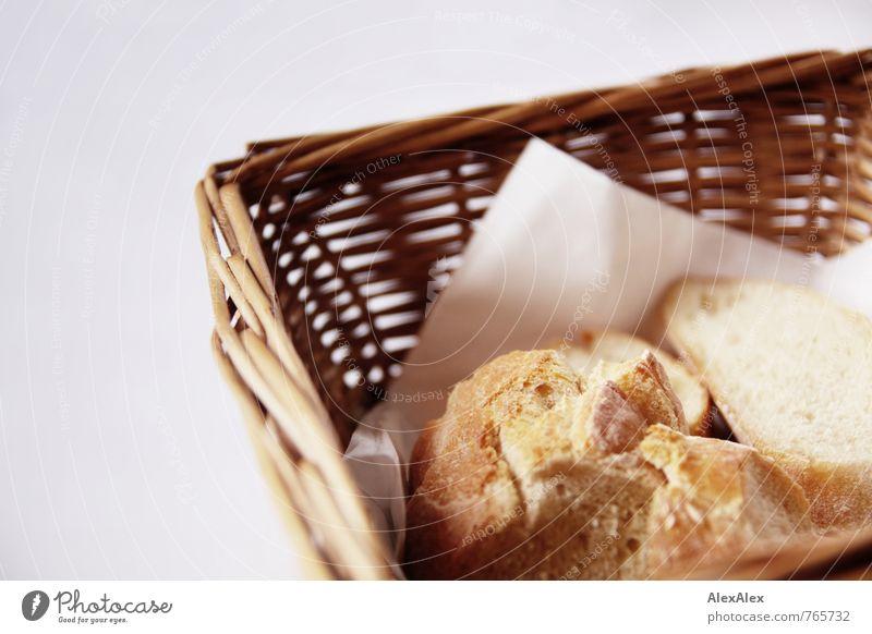 HH - Peute | Brotzeit weiß gelb Essen Lebensmittel gold Idylle Ernährung retro Pause lecker Appetit & Hunger Duft Restaurant positiv Abendessen