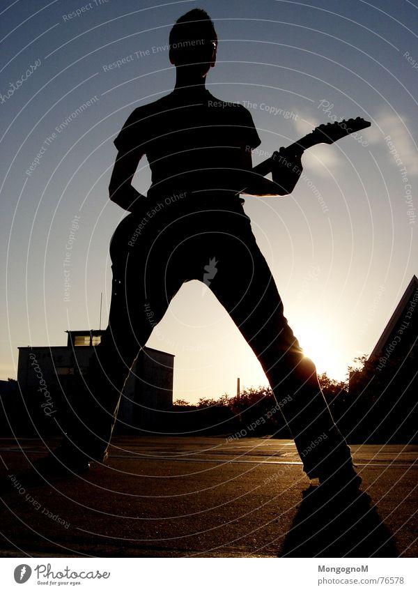 ROCK ON Himmel Sonne Wolken Musik Rockmusik Gitarre Rock `n` Roll Gitarrenspieler Rocker