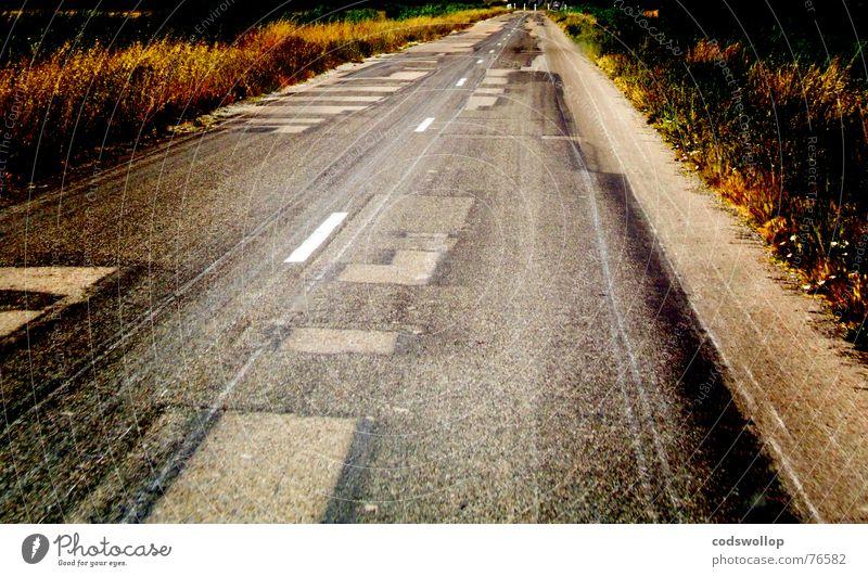 patchwork safari Straße Verkehr Ausflug Asphalt Frankreich Verkehrswege Reparatur eckig Provence Fahrbahnmarkierung Patchwork Camargue