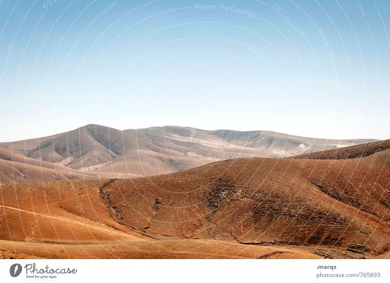 Hügel Ferien & Urlaub & Reisen Tourismus Abenteuer Ferne Sommer Sommerurlaub Natur Landschaft Wolkenloser Himmel Klima Schönes Wetter Berge u. Gebirge heiß
