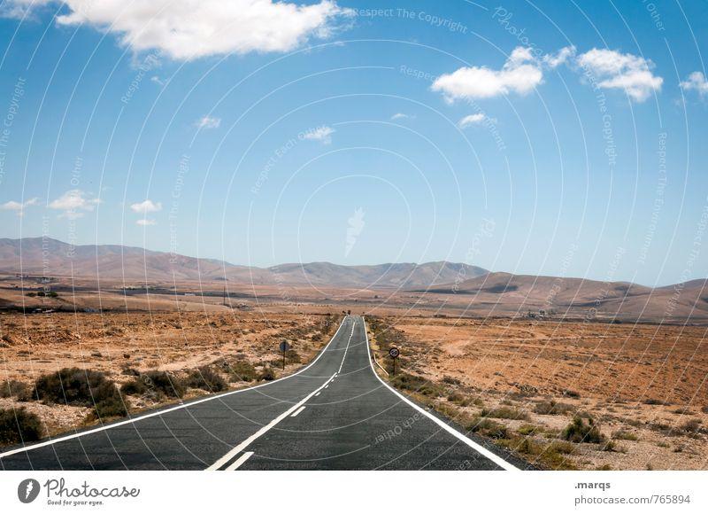 Tour Ferien & Urlaub & Reisen Ausflug Abenteuer Ferne Freiheit Natur Landschaft Himmel Wolken Horizont Sommer Schönes Wetter Wärme Dürre Sträucher Hügel Verkehr