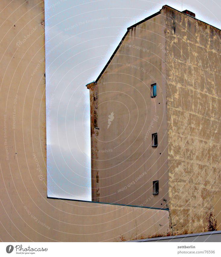 Altbau Haus kalt Fenster Fassade natürlich Reihe Plattenbau Isolierung (Material) Stadthaus Brandmauer Korona Rückseite Außentoilette