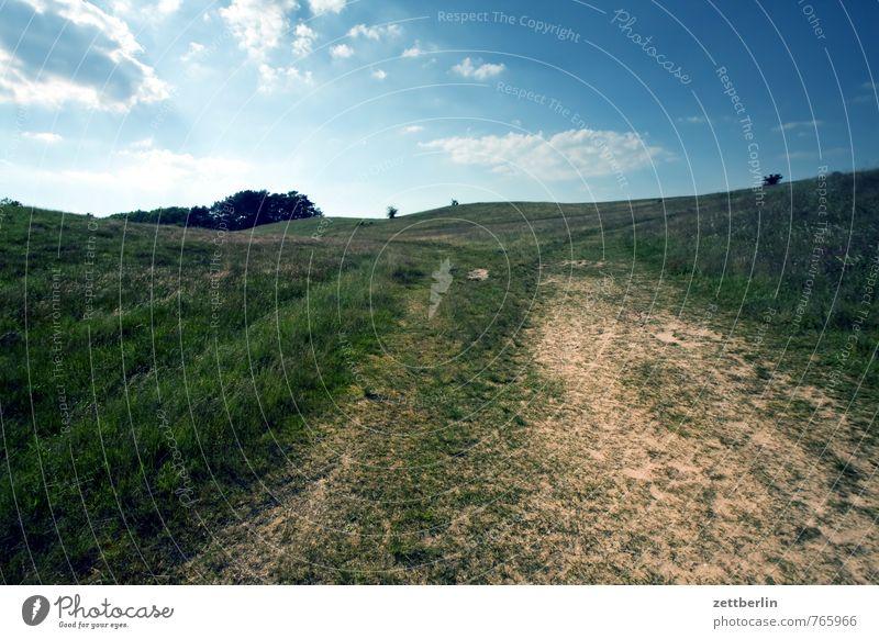 Zickersche Berge Himmel Natur Ferien & Urlaub & Reisen Pflanze Erholung Landschaft ruhig Wolken Ferne Umwelt Gefühle Wiese Freiheit Horizont Freizeit & Hobby