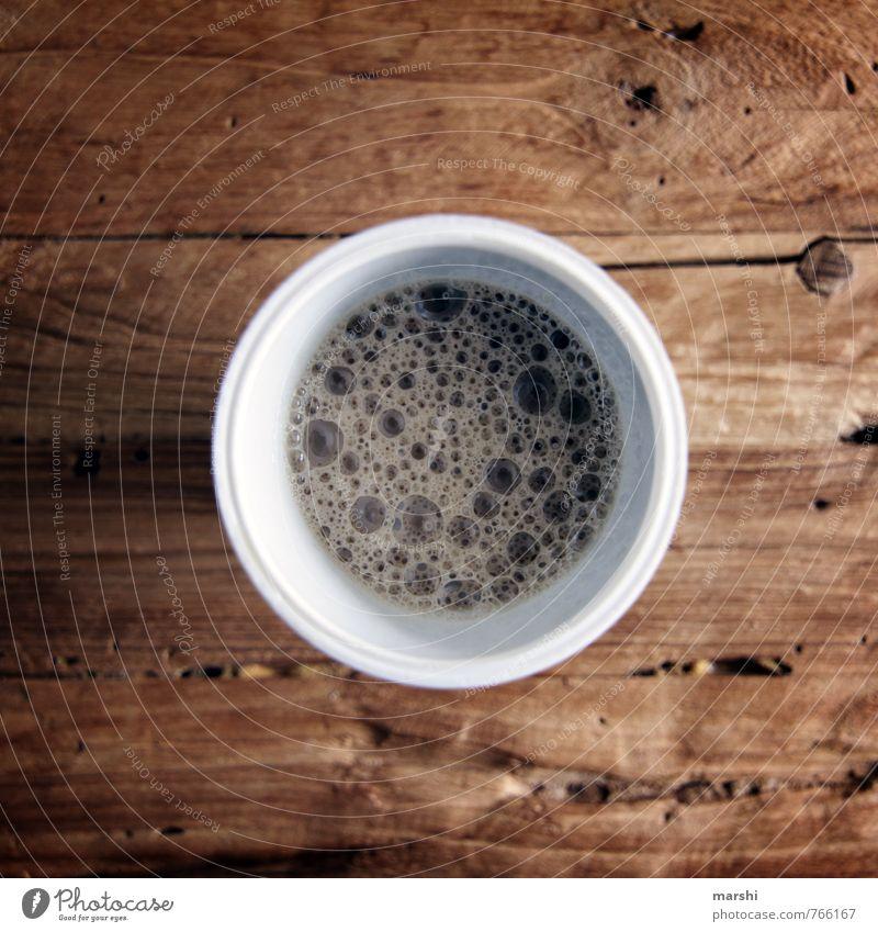 coffee is always a good idea Gefühle Essen Stimmung Lebensmittel Ernährung Getränk trinken Kaffee stark Meinung Blase Holztisch Espresso Kaffeepause