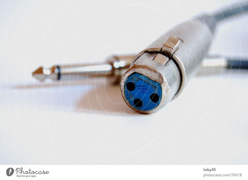 *DieKLINKE+DerXLR* blau Freude Glück See Metall Musik paarweise Schnur Kabel Werkstatt silber Eisen Lust Mikrofon Griff laut