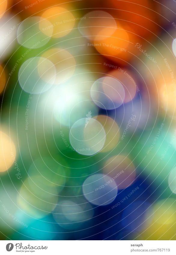 Spots Bühnenbeleuchtung Licht abstrakt Ordnung Unschärfe Dekoration & Verzierung twinkling Schwache Tiefenschärfe Freude Kreis Farbe mehrfarbig Entertainment