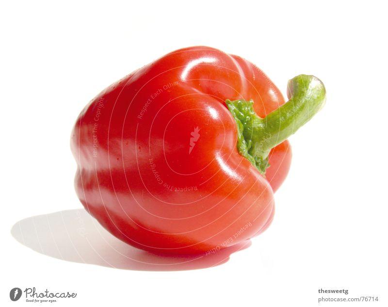 Paprika pepper Farbfoto Studioaufnahme Freisteller Hintergrund neutral Kunstlicht Lebensmittel Gemüse Ernährung Bioprodukte Vegetarische Ernährung Gesundheit