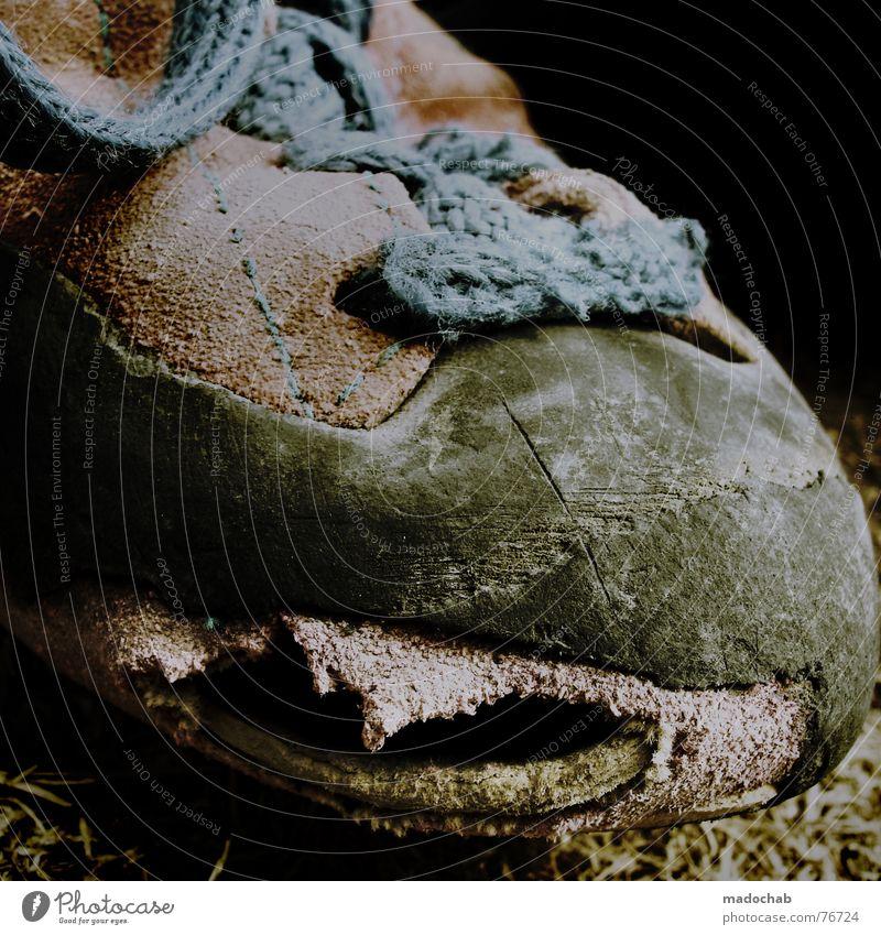 CARPE DIEM | klettern alter climbing schuh shoe used wasted old Leben Schuhe kaputt Bekleidung Klettern Vergangenheit trendy Material Zerstörung Abnutzung
