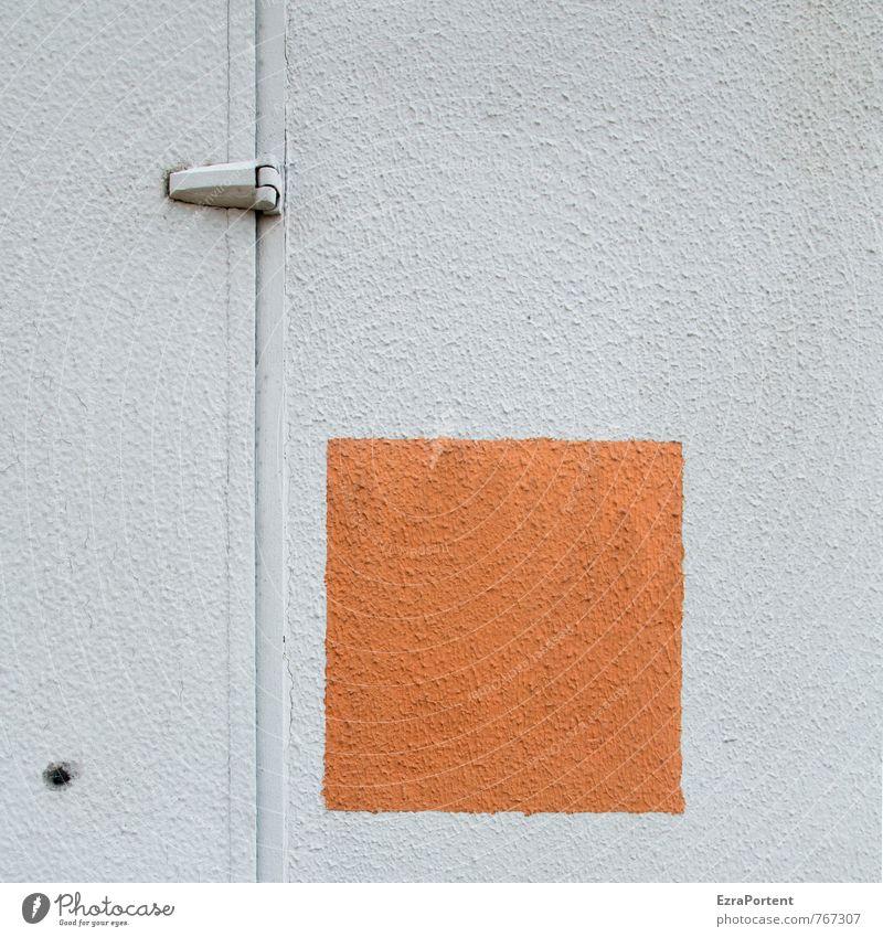 ² Wohnmobil Wohnwagen Kunststoff Zeichen Linie orange weiß Quadrat Stil Design Grafik u. Illustration graphisch Grafische Darstellung Autotür Türspalt Loch