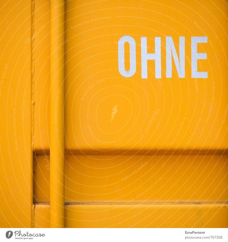 was auch immer Verkehr Güterverkehr & Logistik Schriftzeichen Schilder & Markierungen Hinweisschild Warnschild orange weiß Gefühle Design ohne Linie Stil