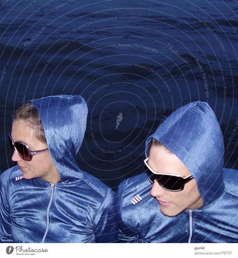 Gehörnzellen Wasser blau glänzend tief Diskjockey Zwilling