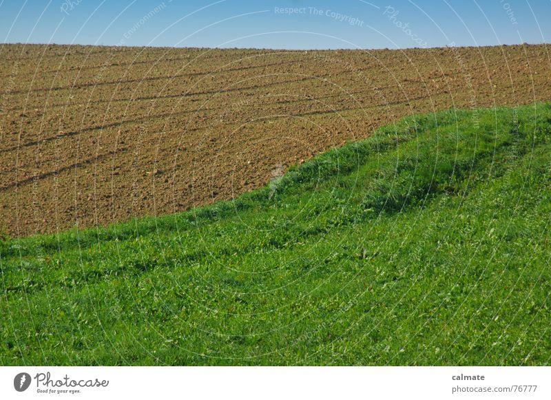 - agrarimpresionen III- Himmel Wiese Feld wandern Wetter Erde Spuren Schönes Wetter was
