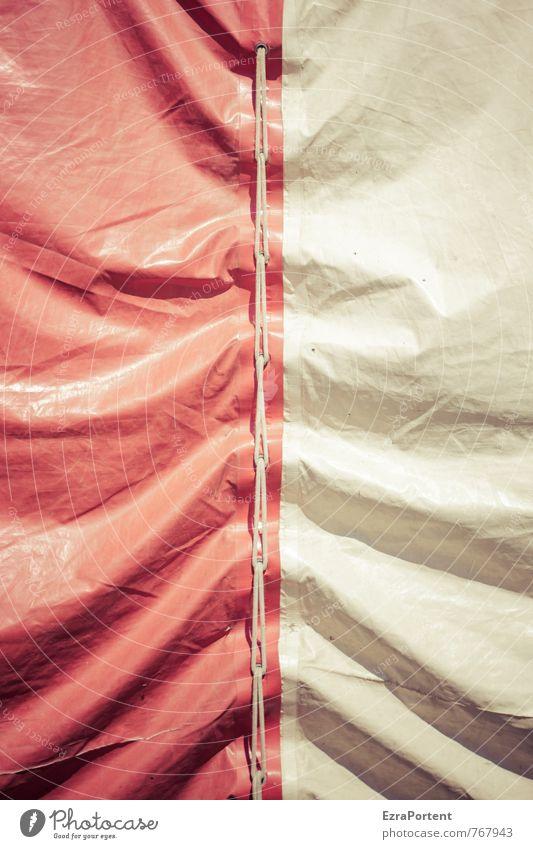 well Jahrmarkt Kunststoff Linie hell grau rot weiß beweglich skurril Zirkus Zirkuszelt Wellenform graphisch Grafische Darstellung Zusammenhalt Sammlung