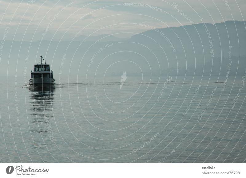 Morgendämmerung am Zürichsee Wasserfahrzeug See Zürich See Dämmerung kursschiff frühkurs