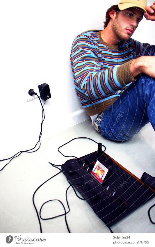 tawan Mann alt Hand blau weiß grün schön rot schwarz Gesicht Erholung dunkel Wand Spielen Haare & Frisuren Stil