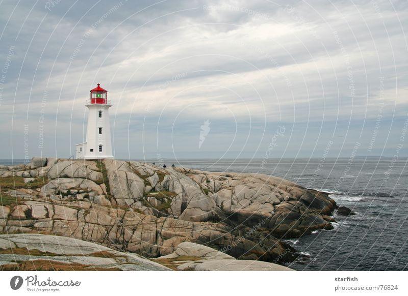 Peggy's Cove Meer Wolken Felsen Sturm Kanada Leuchtturm Brandung Atlantik Halifax