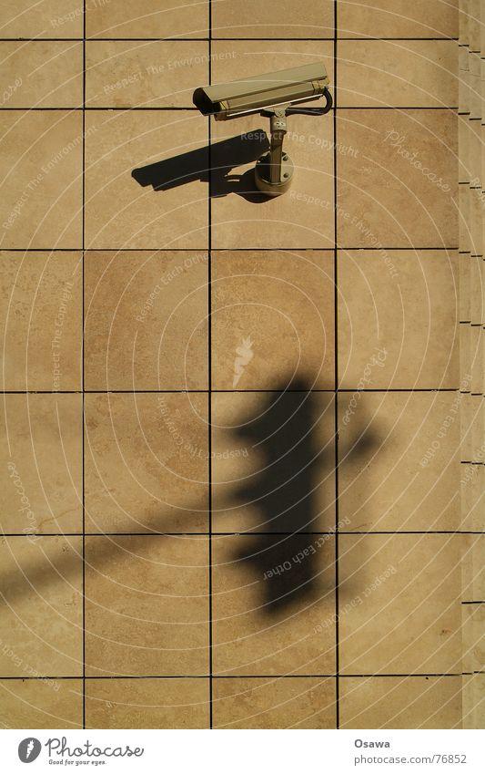 bbiwy 2 Überwachungskamera Video Sicherheit Wand Mauer Sandstein Ampel Fotokamera Kontrolle aufzeichnung Schatten Aufzeichnen