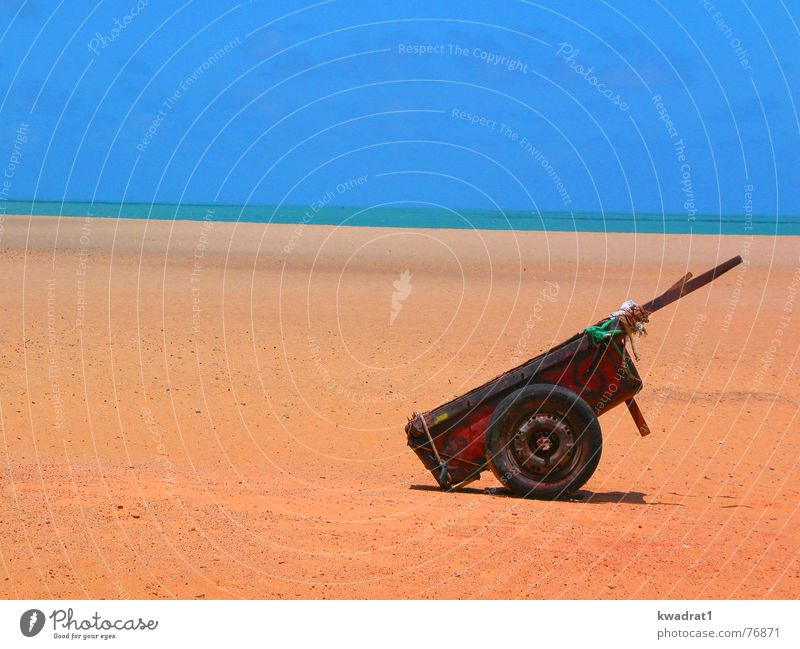 FORTALEZA_BRAZIL Himmel Strand Sand Horizont Lifestyle Brasilien Wagen Karre