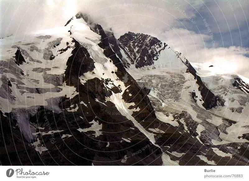 Großglockner Gletscher Einsamkeit unwegsam Gipfel Berge u. Gebirge Schnee Eis Himmel